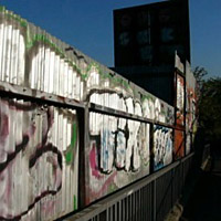 Graffitti on hoardings